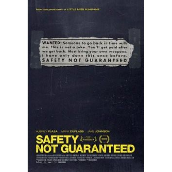 Safety Not Guaranteed Movie poster Metal Sign Wall Art 8in x 12in
