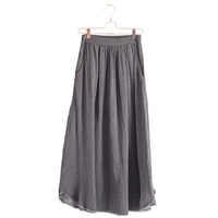 Full Frayed Gauze Skirt