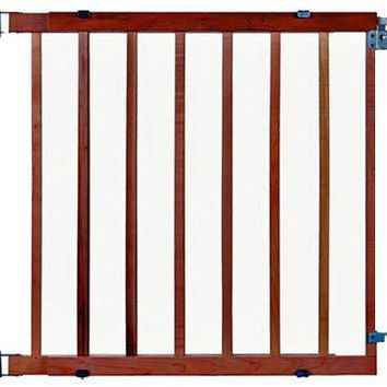 North States 4630 Supergate Expandable Stairway Swing Gate, Wood