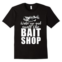 Wake Up And Smell The Bait Shop Funny Fishing T-Shirt