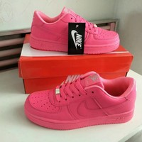 """""""Nike Air Force 1"""" Women Sport Casual Candy Colors Low Help Plate Shoes Solid Color Sneakers"""