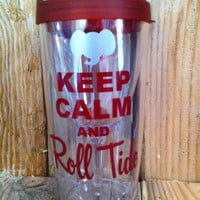 Roll tide vino2go tumbler with houndstooth bow