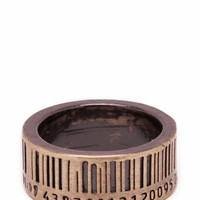 bar code ring $6.90 in GOLD - New Stuff | GoJane.com