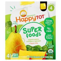 Happy Tot  4pk Spinach, Mango & Pear 4.22 oz 4 ct