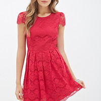 Eyelash Lace A-Line Dress