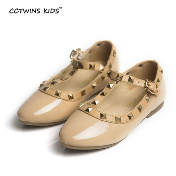 CCTWINS KIDS spring girls brand shoes for baby stud shoes children nude sandals toddler summer shoe black white flats party shoe