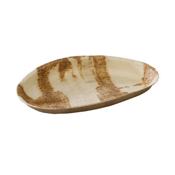 Case - Palm Leaf Egg Shaped Plate PALMEGG MAIN