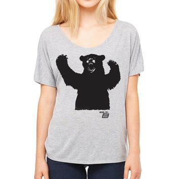 Ames Bros Women's Big Bear Flowy Simple Tee