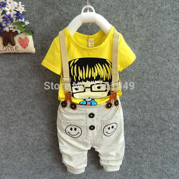new arrival  2016 summer child kids clothing sets for boys baby kids clothes suits outfits  tracksuit t-shirt + pants