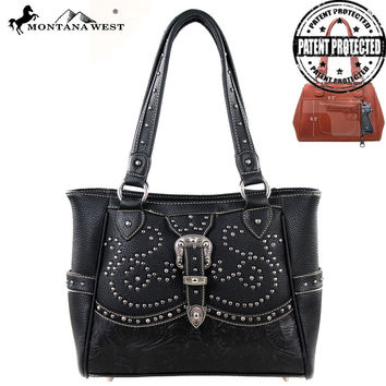Montana West MW127G-8248 Buckle Concealed Carry Handbag