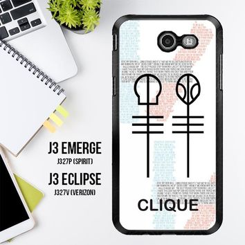 Twenty One Pilots Skeleton Clique X3438 Samsung Galaxy J3 Emerge, J3 Eclipse , Amp Prime 2, Express Prime 2 2017 SM J327 Case