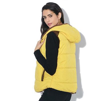 Quilted Vest Hooded Jacket for Women