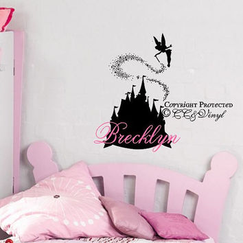Personalized Disney Castle with Name Vinyl Wall Art