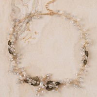Curated Collection Crystal Leaves Necklace