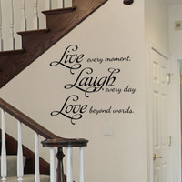 Live Laugh Love Removable Vinyl Wall Art Quotes Decal Sticker