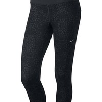 NIKE NIKE Epic Run Printed Crop - Black/Anthracite/Anthracite/Matte Silver   sheactive   Free Delivery on UK Orders over £50