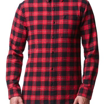 Reign+Storm Vagabond Flannel Shirt - Mens Shirt - Red