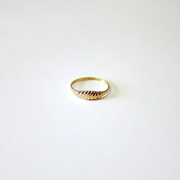 10KT Rosy Gold Baby Ring - Signed and Hallmarked