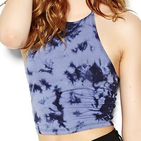 Tie Dye Halter Cropped Top