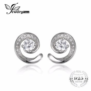 JewelryPalace 0.7ct Stud Earrings For Women Pure 925 Sterling Silver Fashion Jewelry Best Gift For Friends