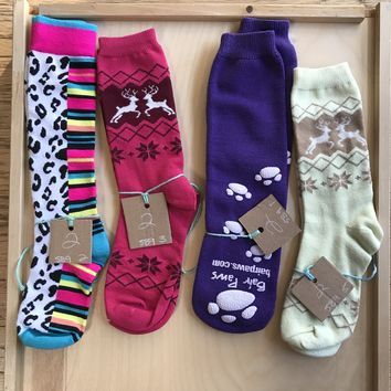 Mid Calf Multicolor Pattern Socks