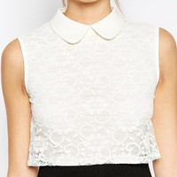 ASOS Dress with Lace Top and Collar