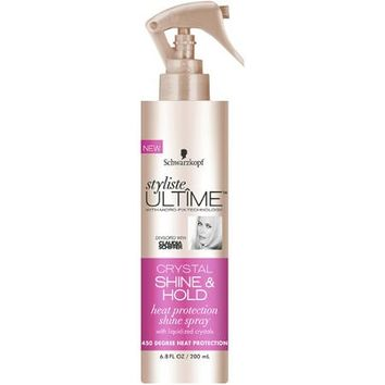 Schwarzkopf Styliste Ultime Crystal Shine & Hold Heat Protection Shine Spray, 6.8 fl oz - Walmart.com