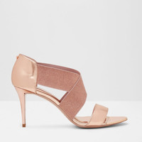 Cross-over strap sandals - Rose Gold | Shoes | Ted Baker