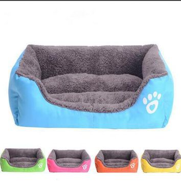 2016 New Pet Dog Cat Bed Puppy Cushion House Pet Soft Warm Kennel Dog Mat Blanket Fall And Winter Dog Pet Hot Sale
