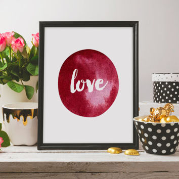 romantic art love typography print typography art home decor love sign wall art Love quote wall quote digital quote love print