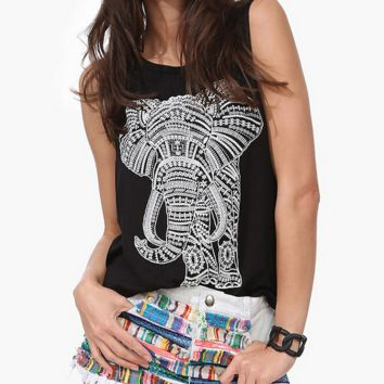 Cute Elephant Tank Top