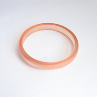 Peach Jewelry , Apricot Resin Bangle , Pink Bracelet ,  contemporary jewellery , resin jewellery , small jewelry , handmade jewelry