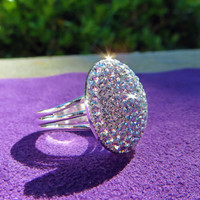 """Twilight """"Bella Ring"""" covered in beautiful Swarovski Crystals, Breaking Dawn, Bella's ring, bling, beautiful, jewelry, pave, Crystal Icing"""