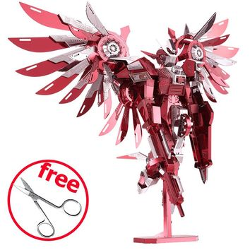 3D Metal Puzzle Toys P069 Piececool Thundering Wings Robot Figure DIY Puzzle 3D Models Brinquedos, Toy For Adults