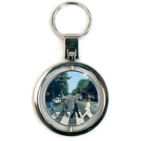 Beatles Abbey Road Spinner Key Chain