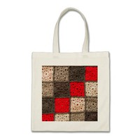 Crocheted patchwork blanket mini tote bag