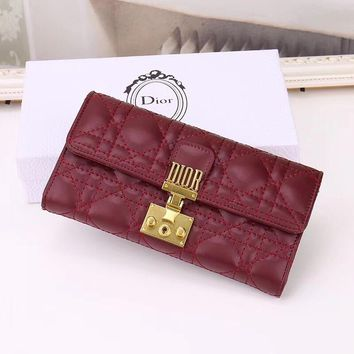 2020 New Office Christian Dior Women men Leather black long purse red walletMonogram Handbag Neverfull Bags Tote Shoulder Bag Wallet Purse   Bumbag Discount Cheap Bags Best Quality