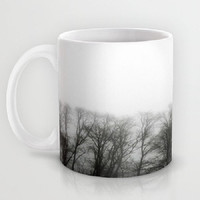 Fog, Mist, Misty, Trees, Eerie, B&W, Morning - Ceramic Mug, 2 Sizes Available - Kitchen, Bathroom, New Home, Gift - Made To Order - MMF#85