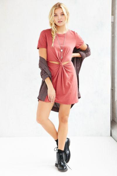 d24a8c947850 Honey Punch Knot-Front T-Shirt Dress from Urban Outfitters