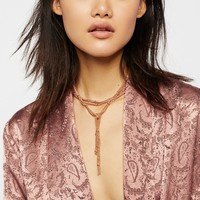 Free People Cora Chain Wrap Scarf Necklace