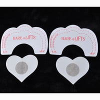 5PAIR Breast Lift Up Bra Invisible Boob Enhancer+Nipple Cover Pad Pasty Stickers