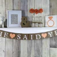 She Said Yes Banner - Engagement Party Decoration - Wedding Decoration