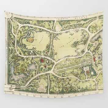 Strolling through history Wall Tapestry by anipani