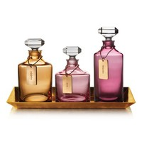 Waterford 'Rebel' Lead Crystal Decanters & Tray (Set of 4) | Nordstrom