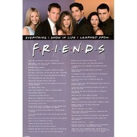 Friends (Everything I Know in Life) TV Poster Print - 24x36