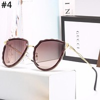 GUCCI 2019 new women's large frame color film polarized sunglasses #4