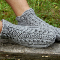Men Slipper Socks, Wool Slippers