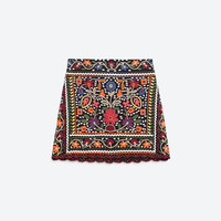 FLORAL EMBROIDERED SKIRT - Mini-SKIRTS-WOMAN-PROMOTIONS | ZARA United Kingdom