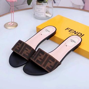 Fendi Flat bottomed slippers