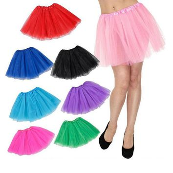 Women Tulle Layered Tutu Skirt Dress for Showing Costume